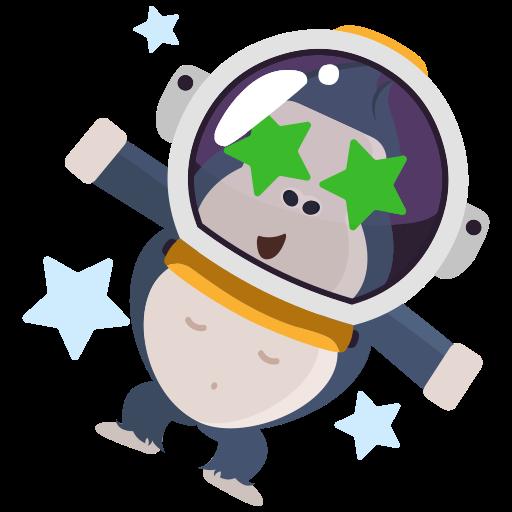 espacio exterior  gratis sticker