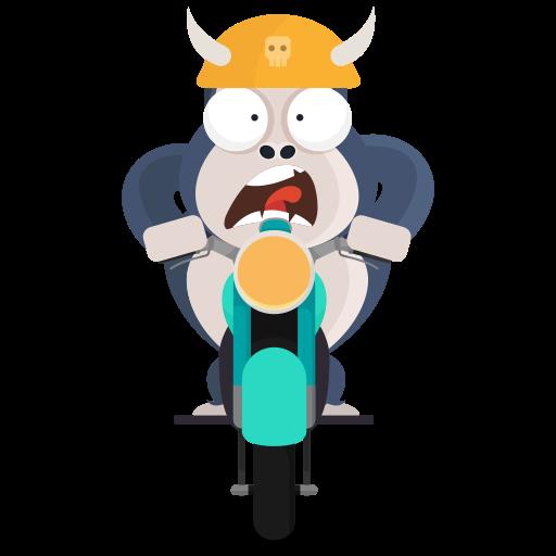 motocicleta  gratis sticker