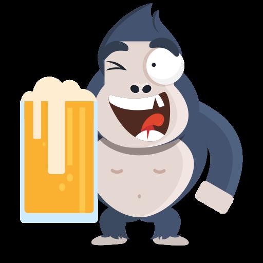 cerveza  gratis sticker