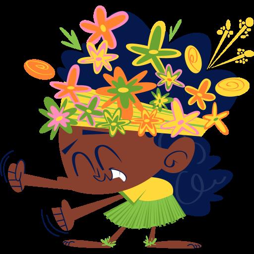corona de flores  gratis sticker
