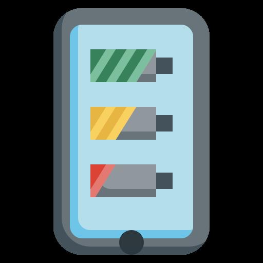 Battery status  free icon