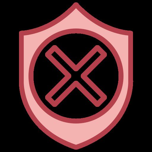 escudo inseguro  grátis ícone