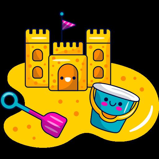castillo de arena  gratis sticker