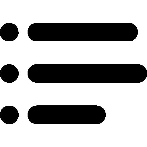 List text  free icon