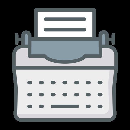 máquina de escrever  grátis ícone
