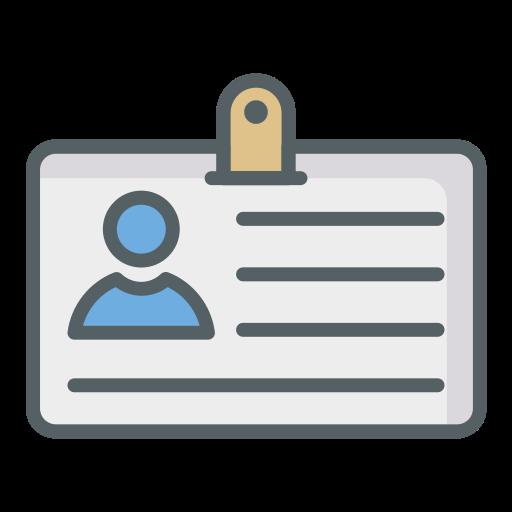 cartão de identidade  grátis ícone