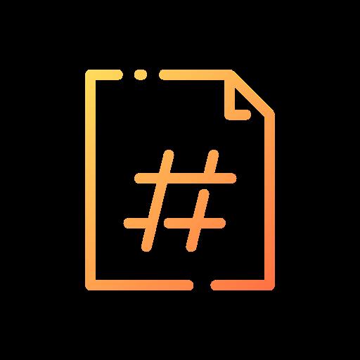 Hashtag  free icon