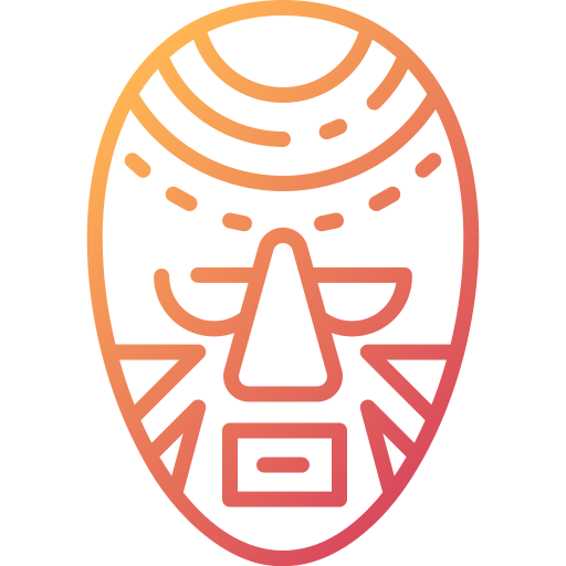 African mask  free icon