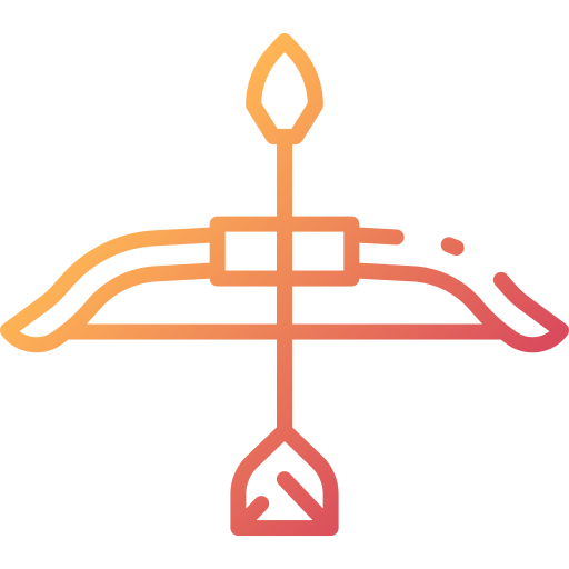 Bow and arrow  free icon