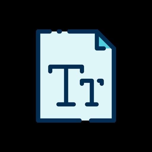 schriftart  kostenlos Icon