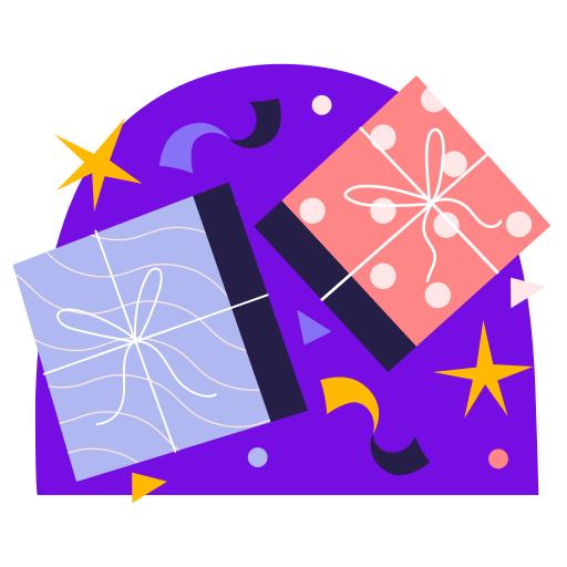 caja de regalo  gratis sticker