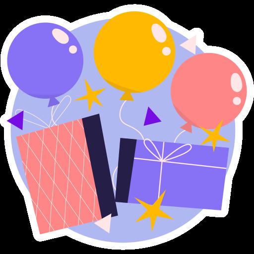 fiesta  gratis sticker