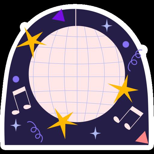 bola de espejos  gratis sticker