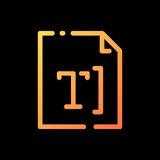 hauteur du texte  Icône gratuit