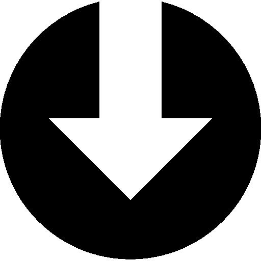 télécharger le symbole de la flèche vers le bas dans un cercle  Icône gratuit