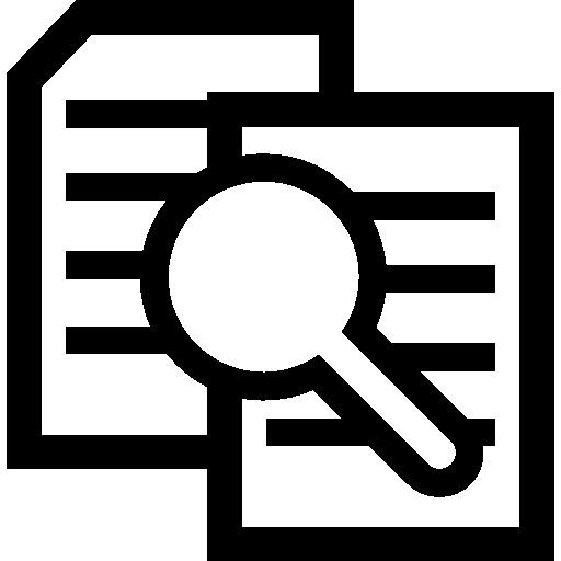 Searching file interface symbol  free icon