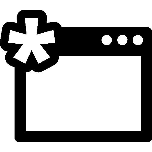 fenêtre avec astérisque  Icône gratuit