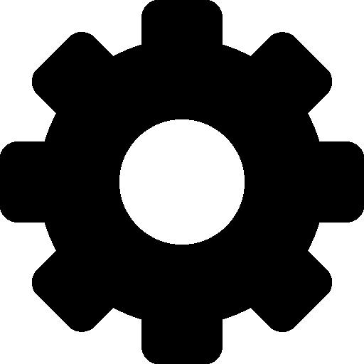 Configuration cogwheel interface symbol  free icon