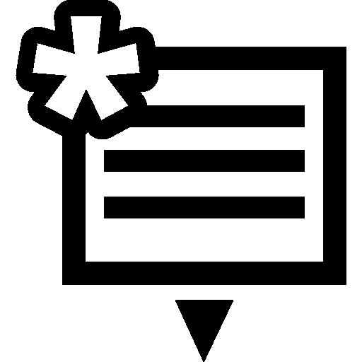 télécharger le symbole de fichier avec un astérisque  Icône gratuit