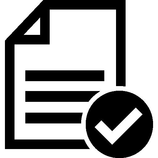Принять файл или контрольный список  бесплатно иконка