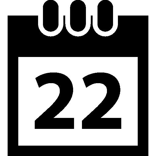 símbolo do calendário diário  grátis ícone