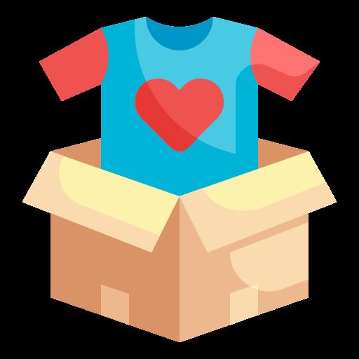 don de vêtements  Icône gratuit