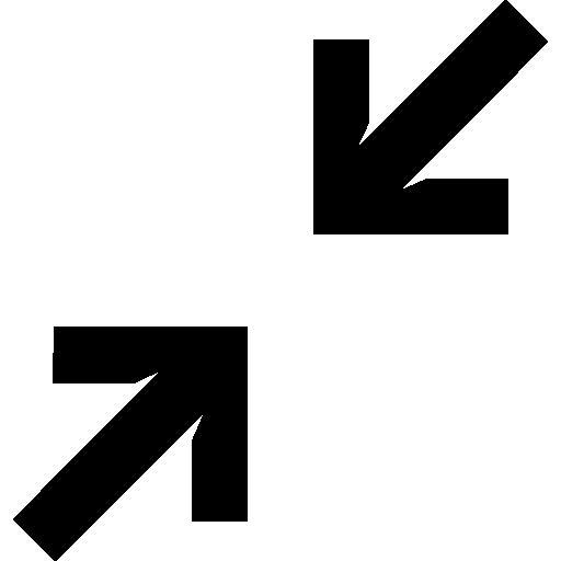 Diagonal arrows  free icon