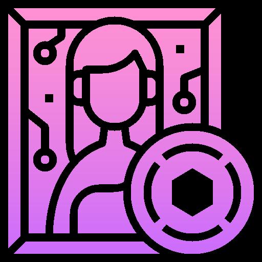 Digital art  free icon