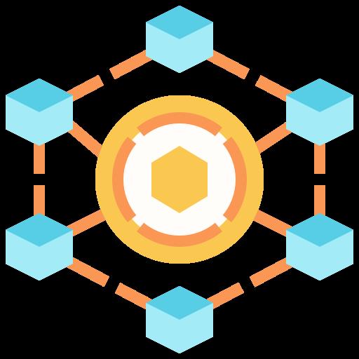 blockchain  grátis ícone