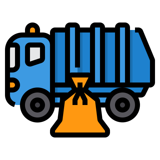 Garbage truck  free icon