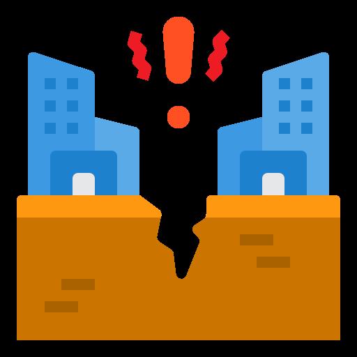 tremor de terra  grátis ícone