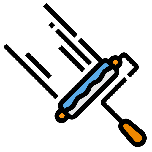 Paint roller  free icon