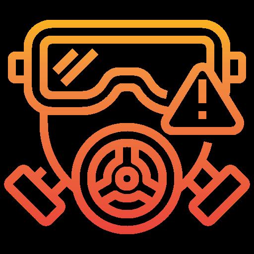 máscara de gás  grátis ícone