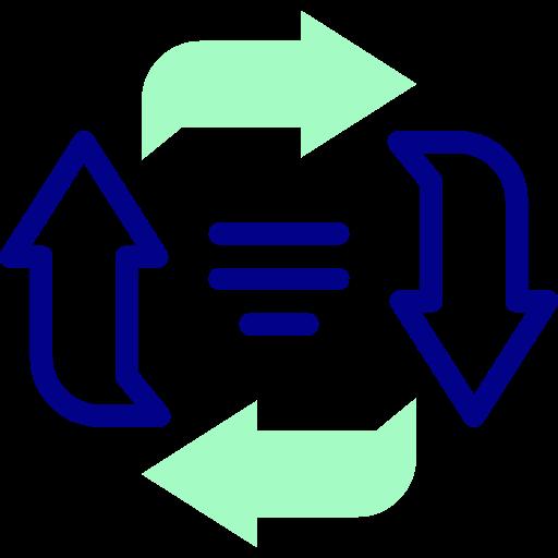 Circular arrows  free icon