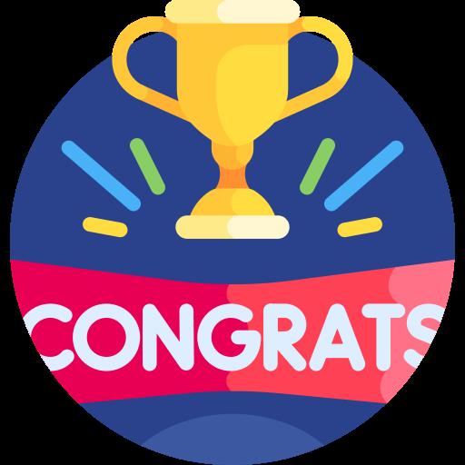 Congratulation  free icon