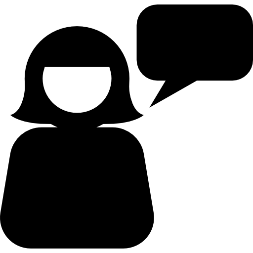 symbole de parler femme  Icône gratuit