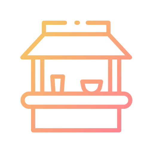 Beach hut  free icon