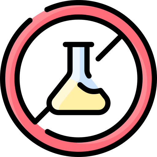 No chemical  free icon