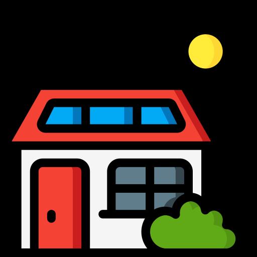casa solar  grátis ícone