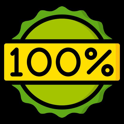 100 por cento  grátis ícone