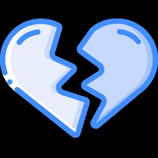 coração partido  grátis ícone
