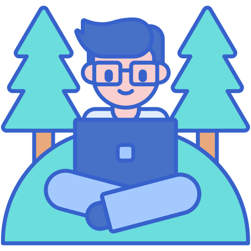 Digital nomad  free icon