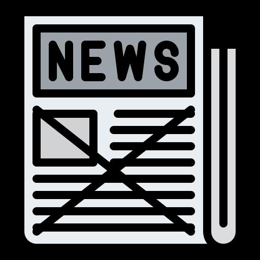 Fake news  free icon