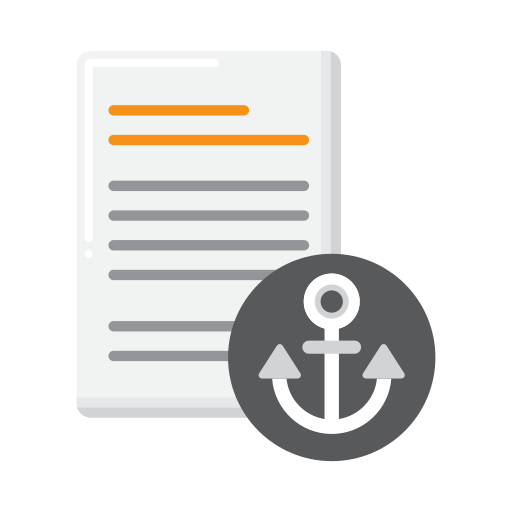 Anchor text  free icon