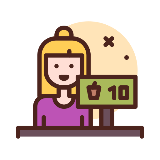Cashier  free icon