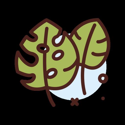 folha monstera  grátis ícone