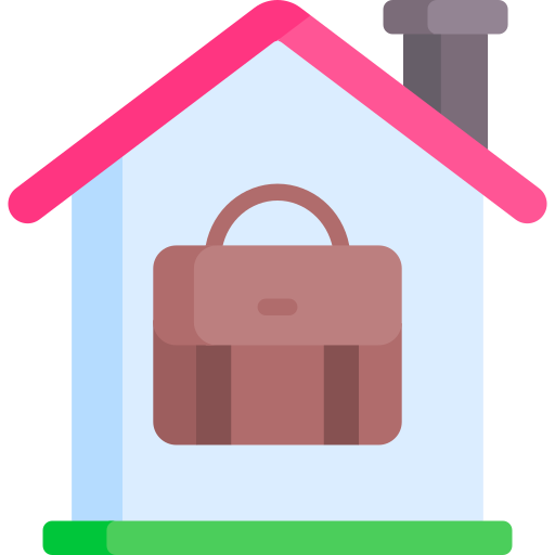 Work from home  free icon