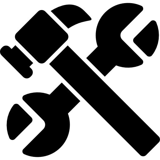 cruz de ferramentas de trabalho  grátis ícone