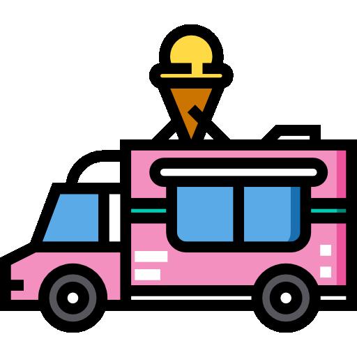 Грузовик с мороженым  бесплатно иконка