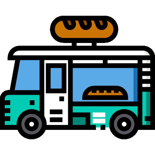Пекарня грузовик  бесплатно иконка